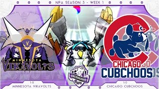 Overpowered! | Minnesota Vikavolts VS Chicago Cubchoos Week 2 NPA S3  | Pokemon Sun Moon WiFi