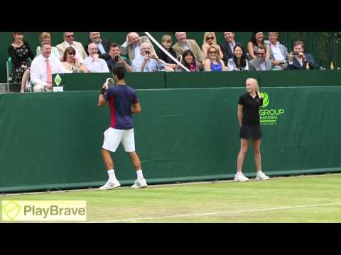 Djokovic & Dimitrov impersonate Maria Sharapova at The Boodles 2013