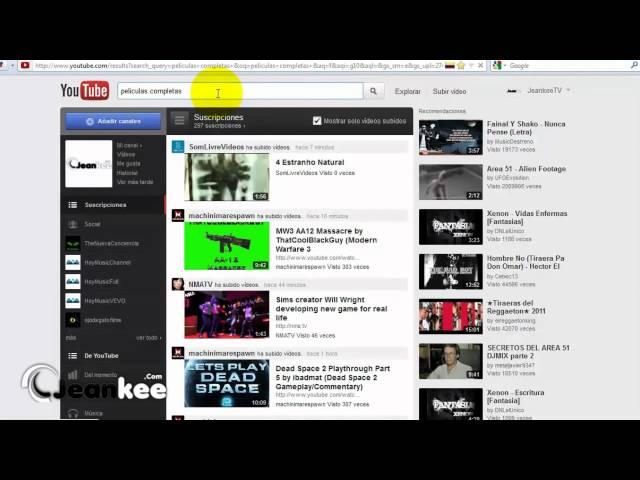 Ver Peliculas Completas en Youtube Gratis