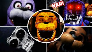 Creepy Nights at Freddy's 1 & 2 - All Jumpscares