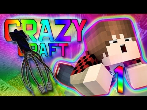 Minecraft: Crazy Craft 2.0 Modded Survival w/Mitch! Ep. 1 - KRAKEN BOSS!