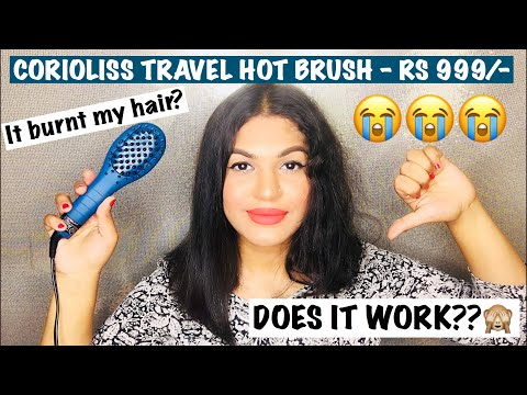 CORIOLISS TRAVEL HOT BRUSH AT RS 999 - IT BURNT MY HAIR ?? || REVIEW AND DEMO | MANSI RASTOGI