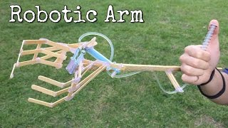 How to Make Hydraulic Powered Robotic Arm at Home from Coffe Shop Sticks and Syringe