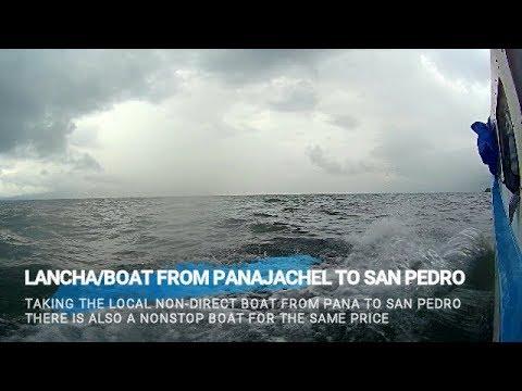 Boat Panajachel to San Pedro La Laguna Lake Atitlan (non-direct boat)
