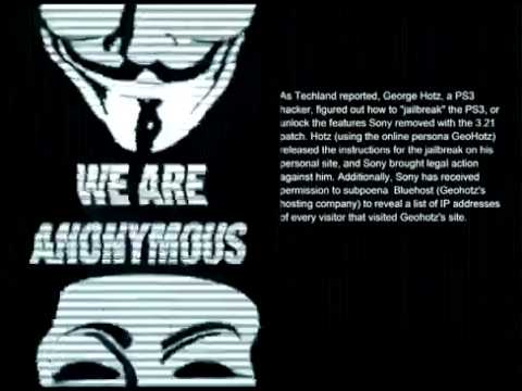 Exclusive -- 'Anonymous' hackers Shut down PS3 !!!.