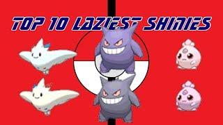 Top 10 Laziest Shiny Pokemon