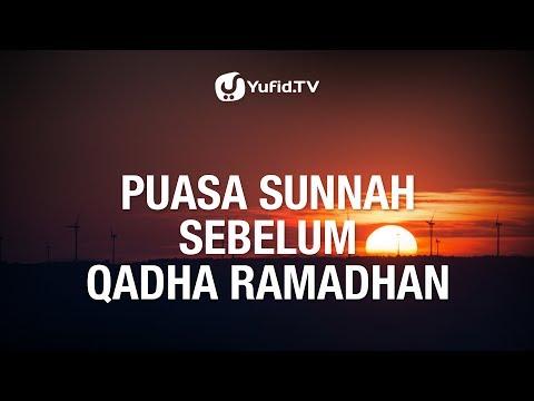 Puasa Sunnah Sebelum Qadha Ramadhan