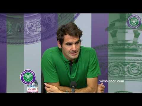 Roger Federer first round press conference