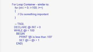 Containers: The For Loop and Sequence Containers, Part 1