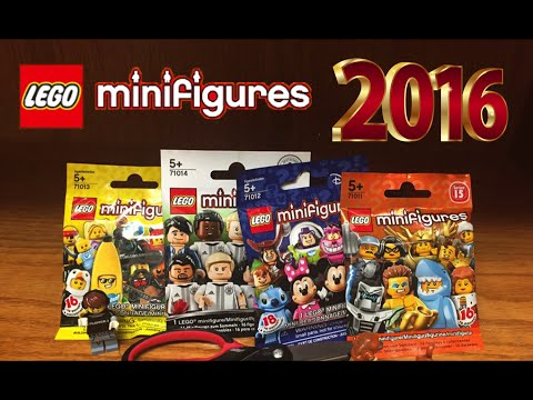EVERY 2016 LEGO COLLECTIBLE MINIFIGURE SERIES OPENING ~ Series 15, 16, Disney and DBF