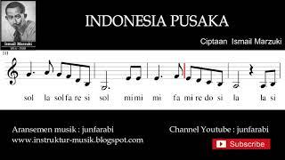 Indonesia Pusaka not balok - solmisasi doremi - aransemen instrumen by junfarabi
