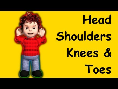 Head Shoulders Knees and Toes  | nursery rhymes &amp; children songs with lyrics -YBJ_-MyV2rU