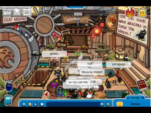 Club Penguin Meeting Sensei Again!