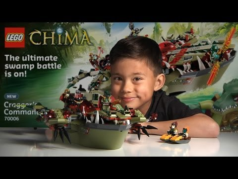 CRAGGER'S COMMAND SHIP - LEGO Legends of Chima Set 70006 - Time-lapse Build. Unboxing & Review