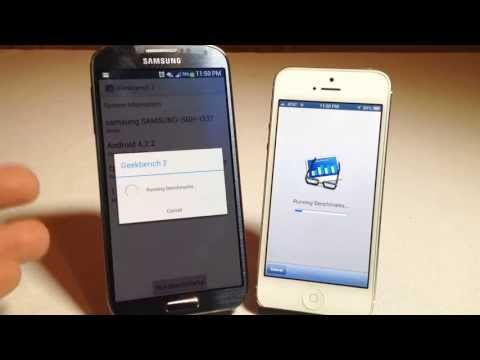 Samsung Galaxy S4 vs Apple iPhone 5 Which Is Faster Better Benchmark