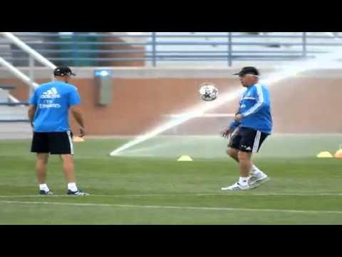 Zidane et Ancelotti font le spectacle à l'entrainement du Real