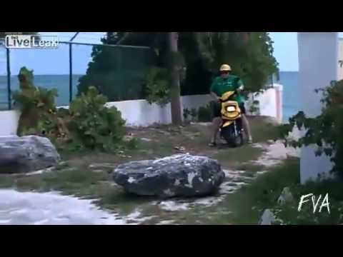 Fat Guy Falls Off Scooter Youtube