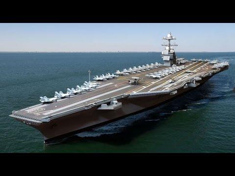 The U.S. Navy's Newest Aircraft Carrier USS Gerald R. Ford (CVN-78) Timelapse Novo Porta-Aviões