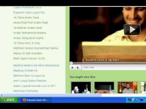 Ramadan Naats Aamir Liaquat Hussain Ramadannaats.blogspot video