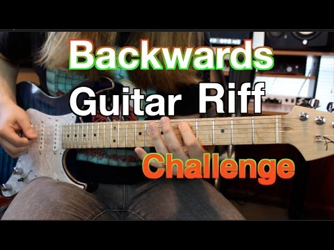 Backwards Guitar Riff CHALLENGE!!! ( Can You Name Them All?)