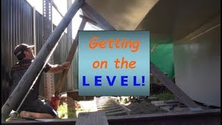 Building my steel sailing yacht Ep.20 Levelling & V berth support pt.1