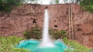 Build The Most Amazing Swimming Pool Water Slide Around Secret Underground House - 2