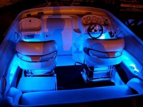 blue led boat kit interior waterproof and wireless by. Black Bedroom Furniture Sets. Home Design Ideas