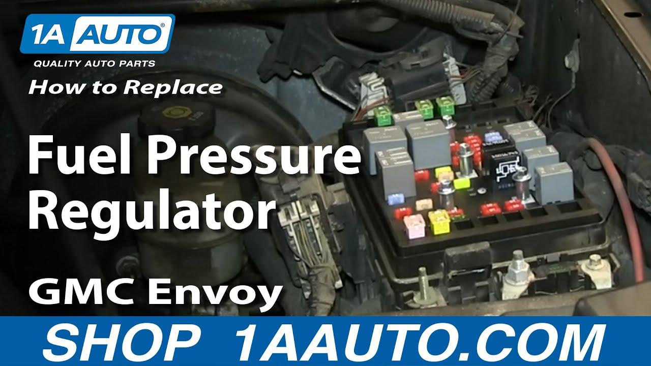 How to install replace fuel pressure regulator 5 3l 2003 04 gmc envoy xl chevy trailblazer ext