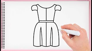 How to Draw a Girl in a Dress Step by Step Learn Girls Dress Easy for Kids