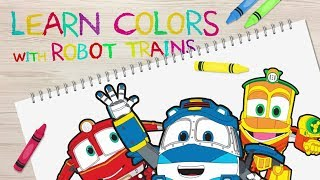 Robot Train Learning Colors | puzzle | kids game | 로봇트레인 | 색깔놀이