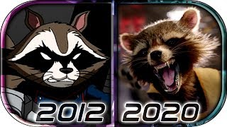EVOLUTION of ROCKET RACCOON in Movies Cartoons TV Anime (2012-2020) Guardians of the Galaxy vol 3