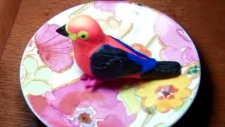 Making of bird from play doh