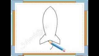 BÉ HỌA SĨ - Thực hành tập vẽ 234: Vẽ tên lửa