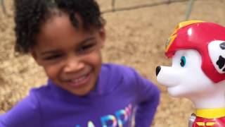 English Peppa Is Surprised by The Big Crazy Fox Foxy | Naiah and Elli Toys Show