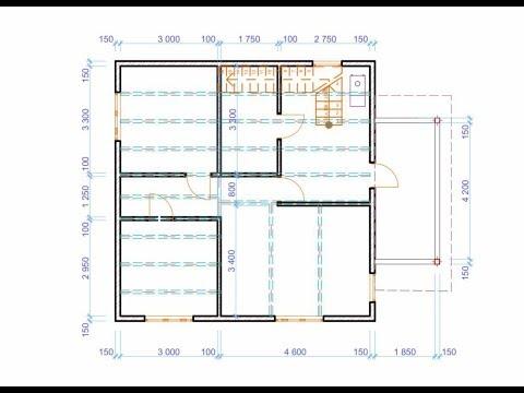 Идея и первый черновой проект дачного дома 8 на 8