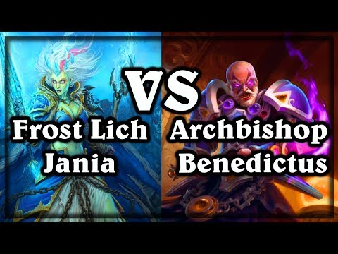 Frost Lich Jaina VS Archbishop ~ Knights of the Frozen Throne Expansion (Hearthstone)