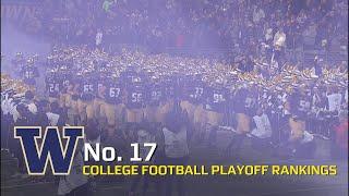 Washington football comes in at No. 17 in week 13 CFP rankings