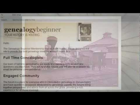 Genealogy Beginner - download a blank family tree template