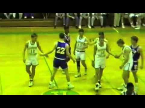 Sparta NC - Alleghany High School vs Elkin - 1992 March 5 - boys basketball - part I