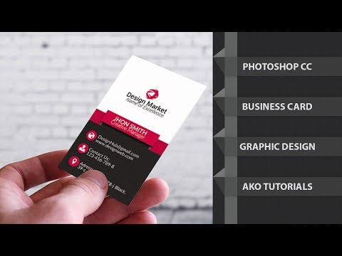 Design Simple and Clean Business card in Photoshop tutorial