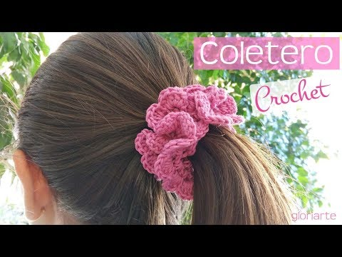 Coletero | Portavelas de ganchillo. Scrunchie hair | Candleholder crochet