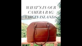 What's in our camera bag? (Minimalist Virgin Islands)