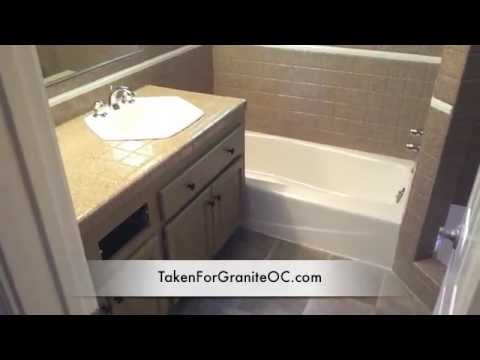 Countertop,and tub refinishing to look like Granite - YouTube