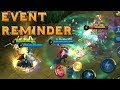 REMINDER OF SATURDAY EVENT AND BRAWL MODE