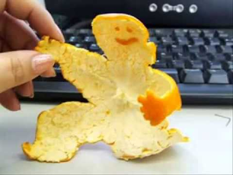 Sevgiyi ifade eden portakal kabuğu