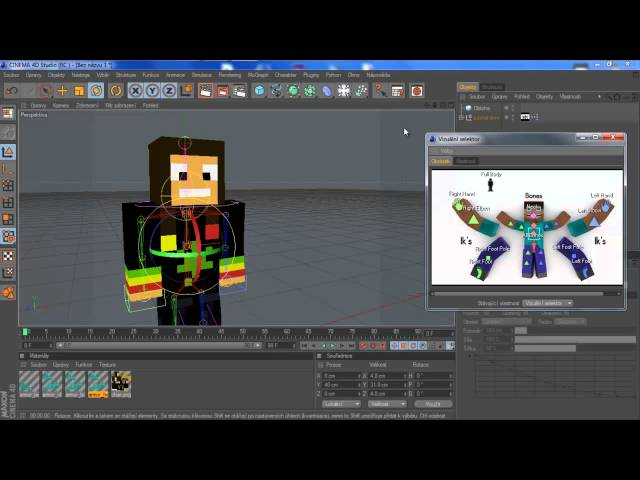 Cinema 4D Tutorial - Minecraft Postava (Rig)
