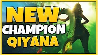 "NEW CHAMPION QIYANA REVEALED! CAMOUFLAGE AD ASSASSIN ""EMPRESS OF THE ELEMENTS"" - League of Legends"