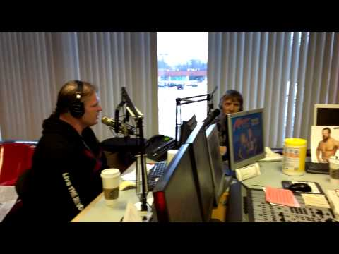 WWE Kane + Daniel Bryan with Janet + Nick Kiss98.5