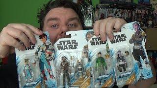 Star Wars Resistance Action Figures Synara, Kaz, Jarek, R1-J5 & Torra Disney Hasbro Toy Review