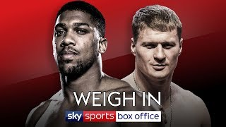 FULL WEIGH IN! Anthony Joshua vs Alexander Povetkin 🥊